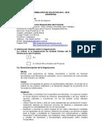 Formulario de Solicitud 2014 - 2015 Argentina