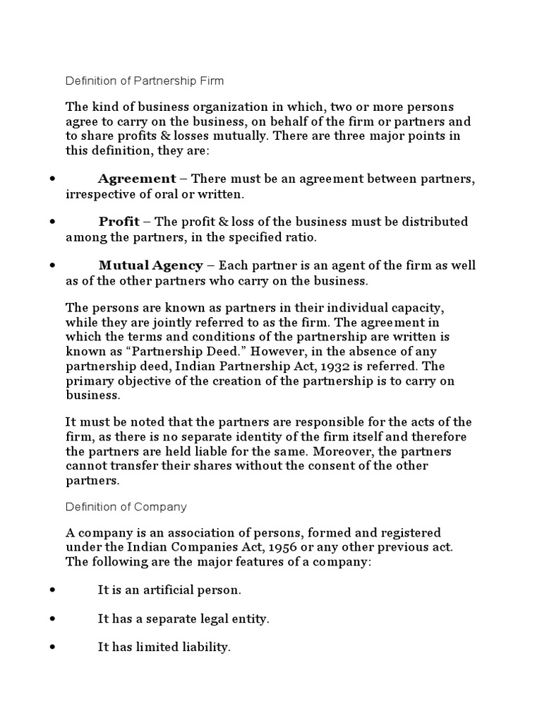 Definition of partnership firm partnership companies platinumwayz
