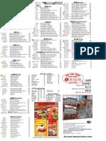 2016 NEW Menu (Flyers) New Feng Huang Seafood