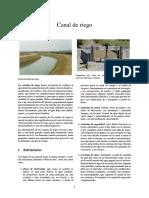 Canal de Riego