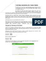 Cara Lengkap Seting Modem Zte f609 Fiber