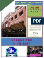 Executive Civil List as on 01.10.2016