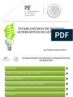 Interconexión de Sistemas Alternativos de Generación CFE