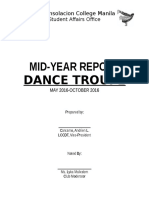 Clubs Mid Year or Annual Report Template