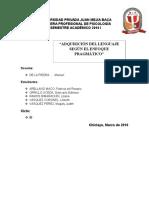 Adquisicion Del Lenguaje Enfoque Pragmatico Avanzado