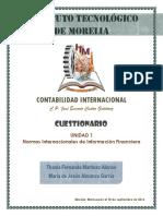 Cuestionario Normas Internacionales de Información Financiera