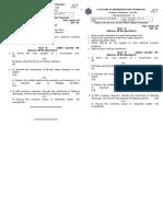 Internal Exam - III-PST