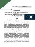 Romejko_a. Społeczność Polska w Wielkiej Brytanii w Świetle Współczesnej Twórczości Powieściowej. Analiza Mimetyczna