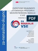 Preventivne dejavnosti sistemskega pristopa k medvrstniškemu nasilju v VIZ - Priročnik št. 2