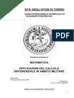 Applicazione Calcolo Differenziale in Ambito Militare