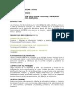 Documento Sustentacion Emprendimiento