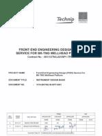 Instrument Design Basis - offshore platform