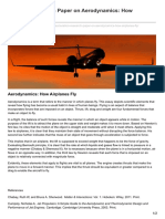 Premiumessays.net-Aviation Research Paper on Aerodynamics How Airplanes Fly