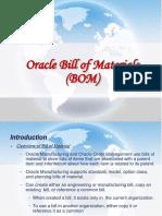 Oracle Bill of Materials (BOM)