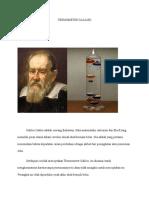 Termometer Galileo