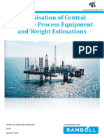 EN7 2 Optimisation of Central Offshore Process Equipment and Weight Estimations