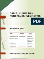 pertemuan 2 GARIS, HURUF DAN KONSTRUKSI GEOMETRIS.pptx