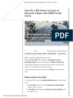 Upto Rs.1,200 Instant Savings on Domestic Flights With HSBC Credit Cards