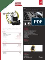 Caméra d'inspection de canalisation rotative - TUBICAM® XL 360HD