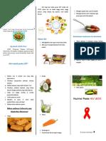 Leaflet Nutrsisi Hiv Aids