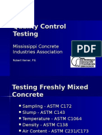 Additional Informaiton About Concrete Testing