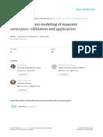 Discrete Element Modelling of Masonry Structures Validation and Applicaiton (Pulatsu, Bretas and Lourenco)