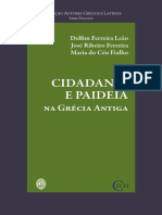 Cidadania e Paideia Na Grécia Antiga