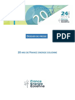 [Dossier de Presse] 20 ans de France Energie Eolienne