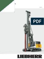 Liebherr LRB125 Piling Drilling Rig Data Sheet 890058514 English