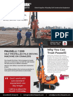 Pauselli 1200 Solar Pile Driver
