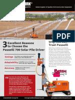 Pauselli 700 Solar Pile Driver Brochure