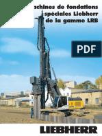 Liebherr Engins de Battage Et de Forage Prospectus Serie Lrb Francais