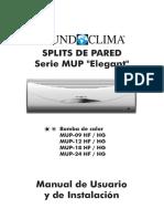 ManualMundoclima SplitsHF HG