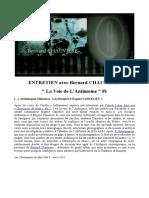 ENTRETIEN Avec Bernard CHAUVIÈRE - La Voie de L'Antimoine