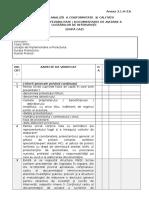 05 Anexa 3.1.A-3.b  - Grila de analiză a conformității și calității Documentaţiei de Avizare a lucrărilor de intervenţie.docx