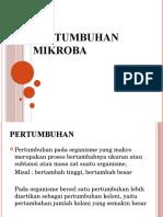 Materi 5 Pertumbuhan Mikroba