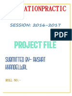 information practic project