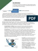 teoría turbinas hidraulicas