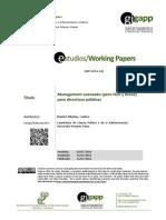 Ramio_Management Para Directivos Publicos_2014