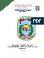 Formato Plan de Mejora de Los Aprendizaje