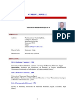 Prof. Dr. Hussein I. El-Subbagh, CV