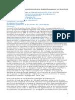 SharePoint Integrar El Servicio Information Rights Management en SharePoint