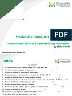 International School Board Meeting (MBIS)-November 26, 2016 - PPT