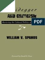 Heidegger and Criticism