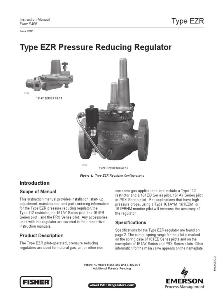 EZR Fisher Pressure Reducing Regulator | Valve | Gases