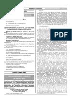 Ley que modifica la Ley 29488 Ley que crea la Universidad Nacional de Cañete