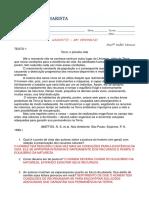 Exame Final - oraçao
