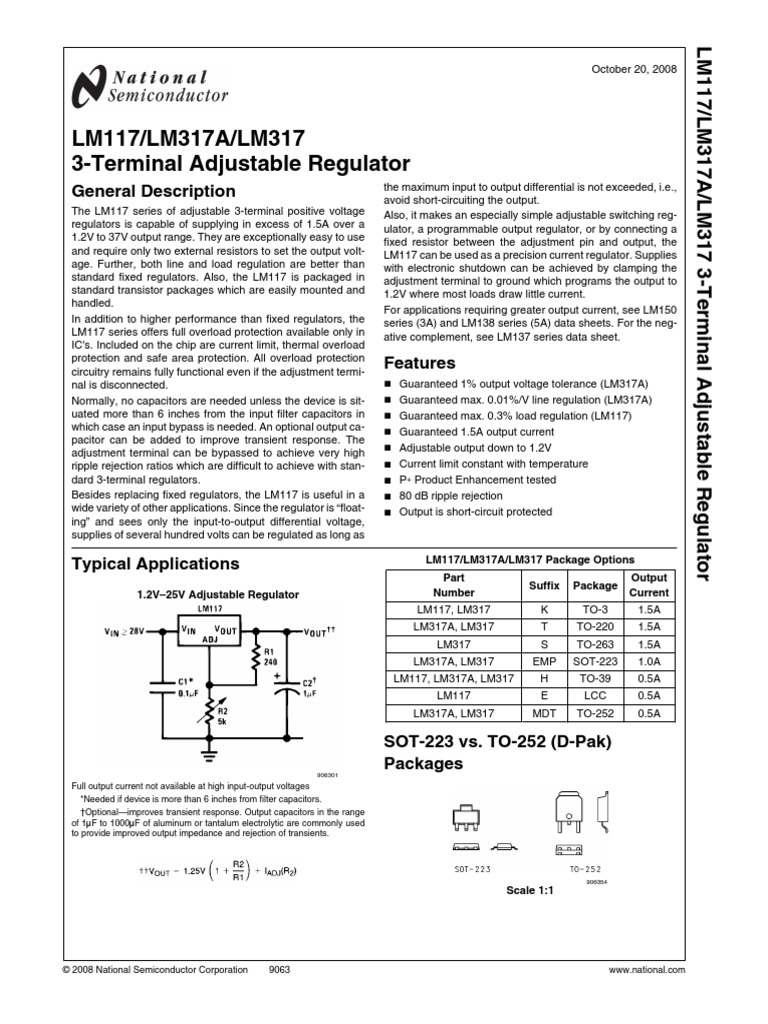 Datasheet1 Capacitor Resistor Lm317 Lm317k