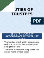 Duties of Trustee
