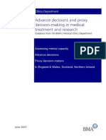 Advance Decisions and Proxy Decision-making in Medical in Medicat Treatment and Research 2007